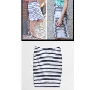 JCrew No. 2 pencil skirt in deck stripe